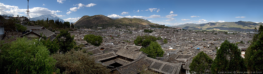 Lijiang Old Town Creating Panoramic Photography
