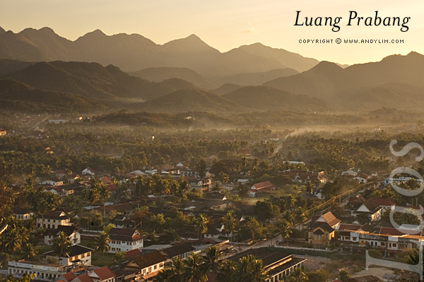 laos prabang townsunset Composition in Landscape Photography